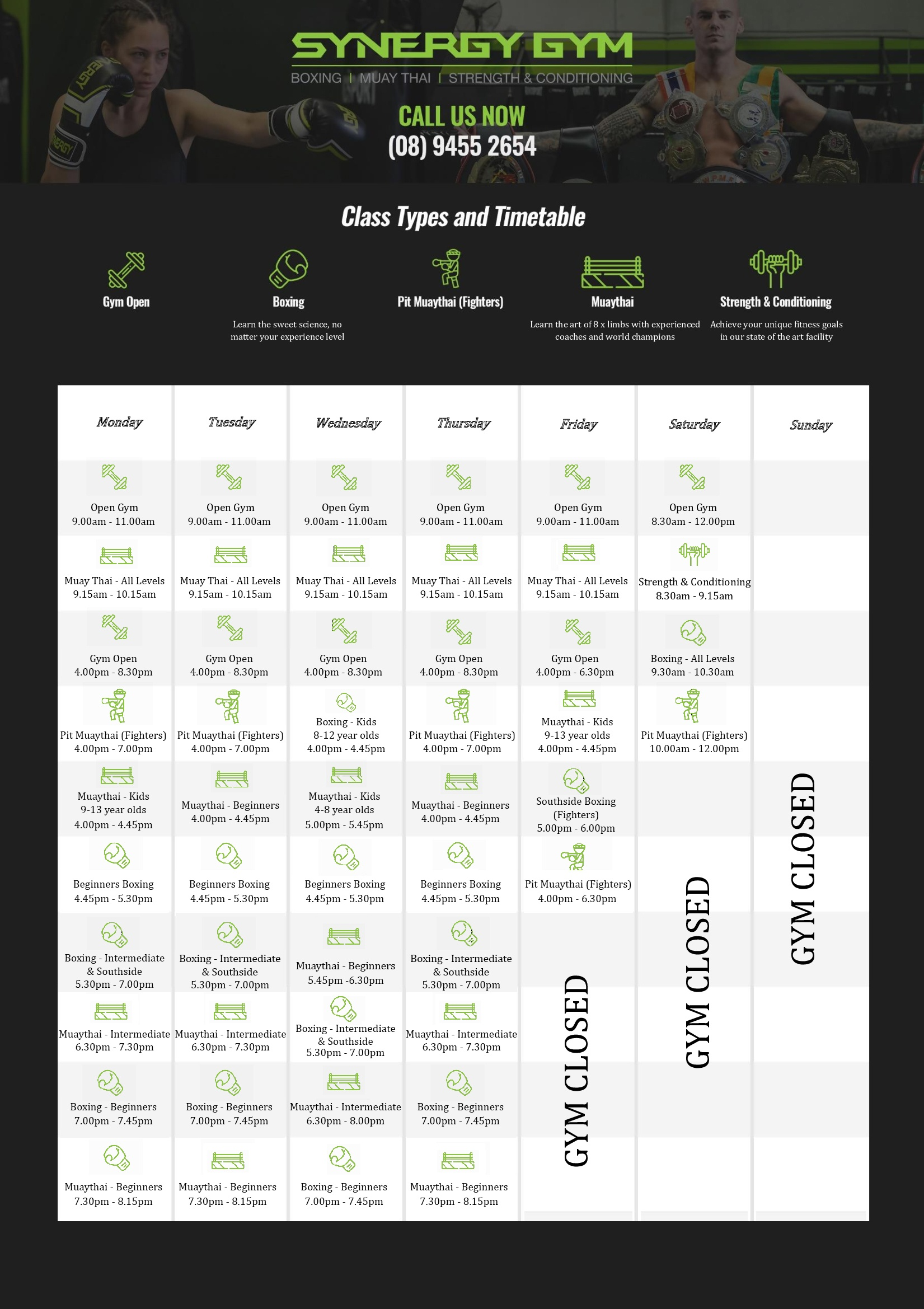 gym time table